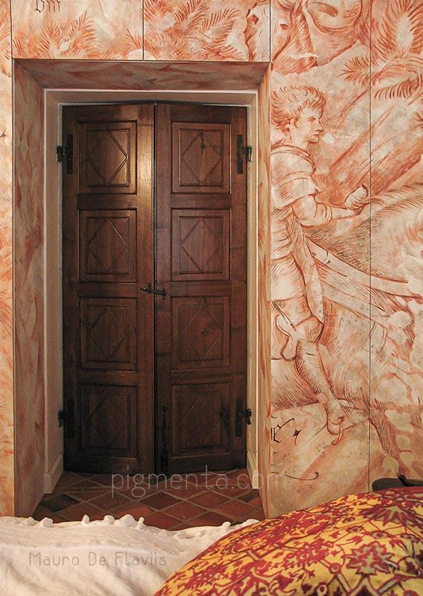 Decorazione Ante Armadio : Dipinti e decorazioni su mobili armadi e pareti. artista decoratore
